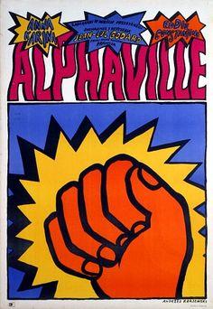 ALPHAVILLE de Jean-Luc Godard (1965) #film #godard #nouvellevague  #polonaise #polish #poster #affiche #pologne #poland #alphaville