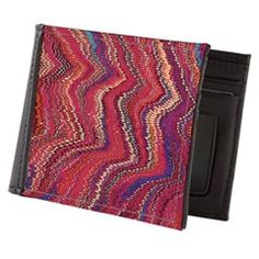 Abstract colorful pattern prints Mens Wallet> Colorful Oil Marbling Abstract Print > Victory Ink Tshirts and Gifts