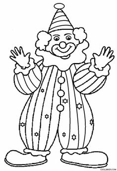 clown template printable | clown coloring pages printable ...