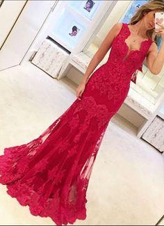 Red Prom Dresses, Sweetheart Neckline Prom Dress, #prom #promdress #dress #eveningdress #evening #fashion #love #shopping #art #dress #women #mermaid #SEXY #SexyGirl #PromDresses