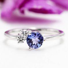 Gold High Quality CT Blue Tanzanite Daimond Engagment Ring/Blue Gem Engagement ring/Birthday Diamond Ring/Anniversary Tanzanite ring by Masterjewelryshop on Etsy Diamond Anniversary Rings, Blue Rings, Solitaire Engagement, Blue Gem, Birthday, Tanzanite Rings, White Gold, Ring Ring, Carrie