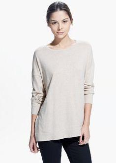Dropped seam sweater