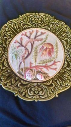 Schutz-Blansko-19th-Century-Rare-Majolica-Plate