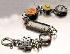 Beautiful charm bracelet by Susan Lenart Kazmer.  Industrial Chic Jewelry.