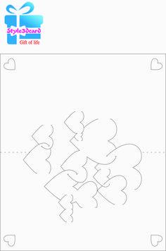 Heart - 3D Pop-Up Card Pattern/Sample/template