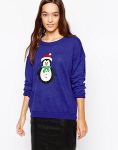 Brave Soul Penguin Christmas Jumper