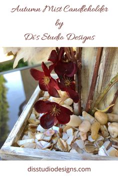 Table Centerpieces, Table Decorations, Wood Burning Art, Burgundy Flowers, Celtic Art, Candleholders, Growing Flowers, Mists, Fall Decor