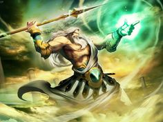 Zeus (Jupiter) - Greek God - King of the Gods and men. Zeus was the top god of the pantheon of the Olympians and the supreme god of the ancient Greeks. Greek Gods And Goddesses, Greek And Roman Mythology, Norse Mythology, Zeus E Hera, Zeus Jupiter, Religion, Hades, Olympians, Mythical Creatures