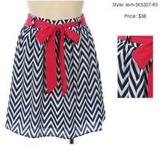 Chevron Navy Skirt.