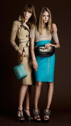 Blanket Stitch Trench Coat from the Burberry Spring/Summer 2012 collection