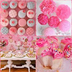 Pink cupcake party