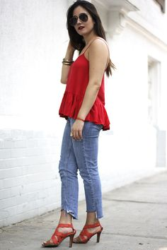 Spring Summer Outfits Ideas + Fashion Blogger Style + Jeans Outfit Style