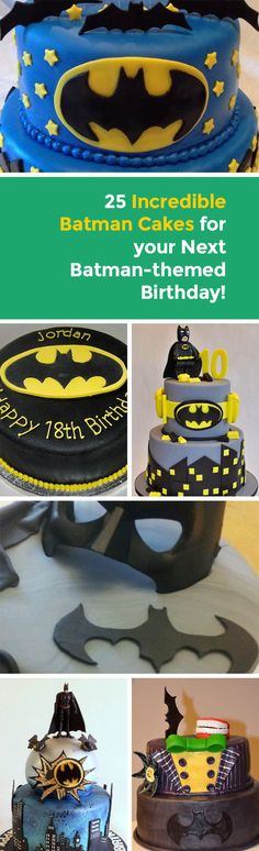 25 Incredible Batman Cakes for your Next Batman-themed Birthday! - Batman Party - Ideas of Batman Party - Batman is a classic superhero who is idolised by millions of youngsters many of whom yearn to have the best Batman party ever! Of course Batman Birthday Cakes, Batman Cakes, Superhero Birthday Party, 6th Birthday Parties, Boy Birthday, Birthday Ideas, Batgirl Party, Lego Batman Party, Batman Party Supplies