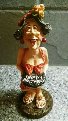 "Doug Harris ""Happy Birthday"" Figurine #13189 Russ Berrie and Company"