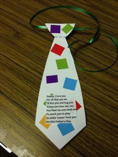 Kids will love crafting a special tie for dad. #FathersDay