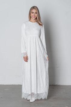 d479185363592 White Jasmine Dress – ModWhite Temple Dress