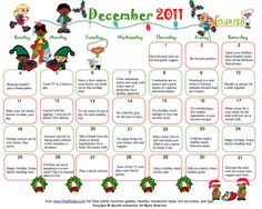 calendar-kids-healthy-tips-december-2011