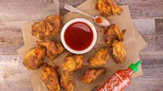 Michael Symon's Twice-Fried Chicken with Sriracha Honey Recipe