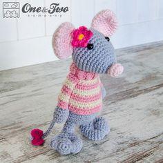 Emily the Mouse Amigurumi PDF Crochet Pattern Instant