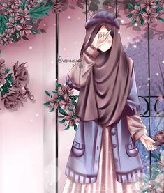 A scarf is the most important bit within the clothing of women using hijab. Hijabi Girl, Girl Hijab, Cute Girl Wallpaper, Cartoon Wallpaper, Muslim Pictures, Hijab Drawing, Islamic Cartoon, Cute Couple Cartoon, Image Hd