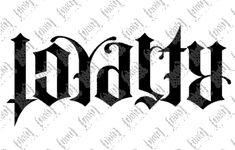 anagram tattoos   Loyalty / Respect Ambigram