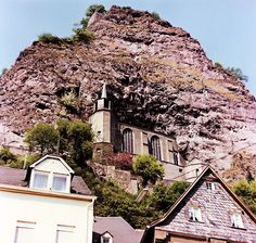 Idar-Oberstein Germany Church built into the rock. The inside was amnethyst! Got off the train here to go on to Baumholder. Places Around The World, Oh The Places You'll Go, Places To Travel, Places Ive Been, Places To Visit, Around The Worlds, Wonderful Places, Great Places, Beautiful Places