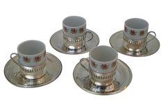 Porcelain Espresso Cups, Set of 4 (95)