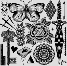 Tattoo flash by Tom Gilmour