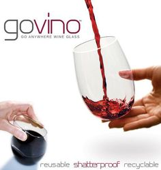 govino wine glasses - reusable, shatterproof, recyclable @Hildreths Home Goods  in Southampton and East hampton #hamptons #home #houseware #wine