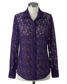Lush lace shirt - [K21687]