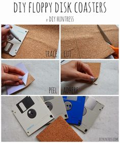 DIY Floppy Disk Coasters – DIY Huntress