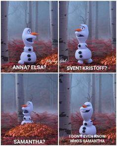 See more of lifeasateenn's content on VSCO. Funny Frozen Memes, Funny Disney Jokes, Disney Memes, Disney Quotes, Olaf Quotes, Movie Quotes, Quotes Quotes, Funny Jokes, Hilarious