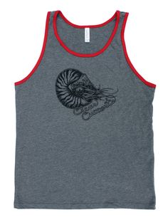 Nautilus jersey tank top. A portion of proceeds donated to sea turtle rehabilitation.