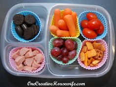 One Creative Housewife: Kindergarten Lunches Week 3- lots of lunch ideas for preschool