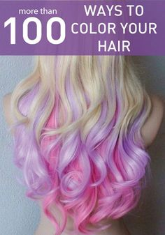 Interested in changing your hair? Click and check out these awesome and colorful hair styles first. (No, I'm not doing this, just think it's cool!)