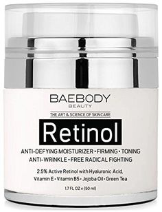 Baebody Retinol Moisturizer Cream for Face and Eye Area  With 25 Active Retinol Hyaluronic Acid Vitamin E Anti Aging Formula Reduces Wrinkles Fine Lines Best Day and Night Cream 17 Fl Oz ** You can find out more details at the link of the image-affiliate link.