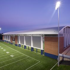 The University of Virginia's Indoor Practice Facility houses a full-size…