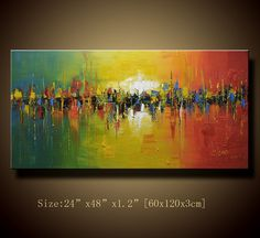Original Abstract Painting Modern Textured Painting by xiangwuchen, $150.00