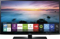 "Samsung - 55"" Class (54.6"" Diag.) - LED - 1080p - Smart - HDTV - Black - Front Zoom"