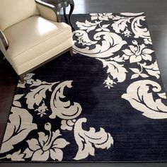 One Day, Iu0027ll Have Hundreds Of Hand Painted Rugs. White RugWhite  DamaskDamask ...
