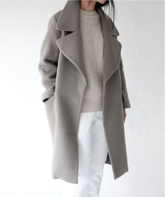 Smoky Grey Coat. Perfect for when autumn to winter transition. More