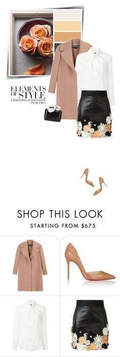 """""""Elements of style"""" by sophiek82 ❤ liked on Polyvore featuring Rochas, Vera Wang, Christian Louboutin, Moschino, Emanuel Ungaro, Nancy Gonzalez, women's clothing, women, female and woman"""