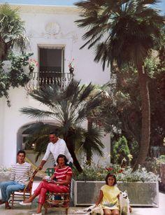 The Duchess Anna Grazioli, Prince ofSirignano & their children- Capri  Slim Aarons