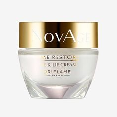 Oriflame NovAge Time Restore Eye & Lip Cream for sale online Nose Pore Strips, Oriflame Beauty Products, Gel Face Mask, Nose Pores, Under Eye Puffiness, Lip Contouring, Eye Contour, Serum, Kissable Lips