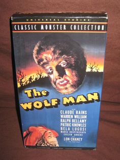 CLASSIC MONSTER COLLECTION THE WOLF MAN VHS (1941/1999) HORROR