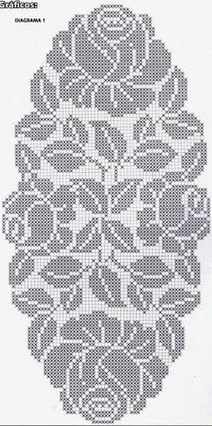 How to a Beautiful Rose Flower in Filet Crochet: Filet Crochet Rose Chart Filet Crochet Charts, Crochet Cross, Crochet Flower Patterns, Crochet Diagram, Crochet Home, Thread Crochet, Crochet Motif, Crochet Designs, Crochet Doilies