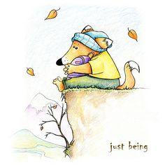 my little melancholic fox #illustration #fox #animals #doodle #draw #drawing