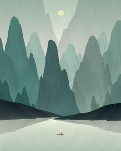 Chinese Landscape By Dadu Shin