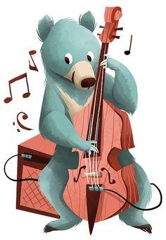 músico de los bosques... Illustration Vector, Children's Book Illustration, Character Illustration, Design Illustrations, Images Disney, Wow Art, Art Music, Cute Art, Character Design