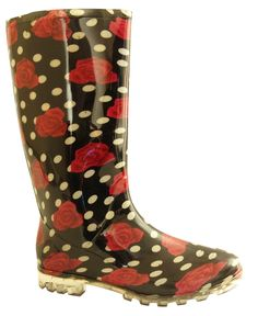 Stylish Women's Rain Boots Water Shoes High Leg With Cute Pattern Tyc291 >>> Want to know more, click on the image.